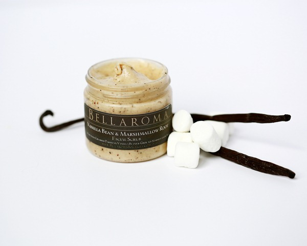 Vanilla Bean + Marshmallow Root Facial Scrub-Vanilla Bean,Marshmallow Root,Facial Scrub,warm,relaxing,gentle,healing,protectant