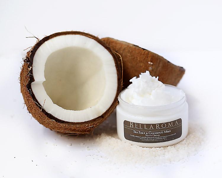 Sea Salt + Coconut Milk Shave Cream-sea salt,coconut milk,shave cream,men,woman,shaving