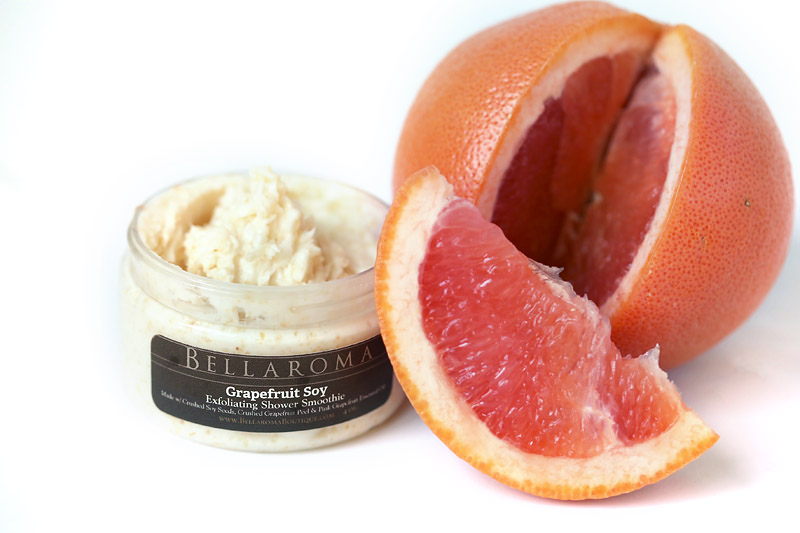 Grapefruit Soy Exfoliating Shower Smoothie-grapefruit,soy,exfoliating,shower,bath,smoothie,body wash,cleanser
