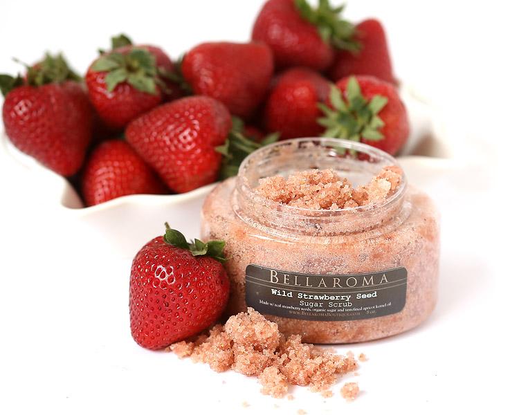 Wild Strawberry Seed Sugar Scrub-Wild Strawberry Sugar Scrub,anti aging,antioxidants,body exfoliant, exfoliate, skin scrub,vegan