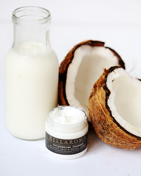 Polynesian Coconut Whipped Creme-Polynesian Coconut,creamy,vegan,soothing,summer,coconut milk,hands,face,facial