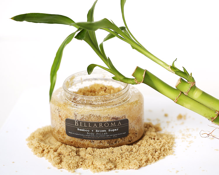 Bamboo + Brown Sugar Polish-hawaiian brown sugar polish, body scrub, turbinado organic sugar,natural,vegan,bamboo