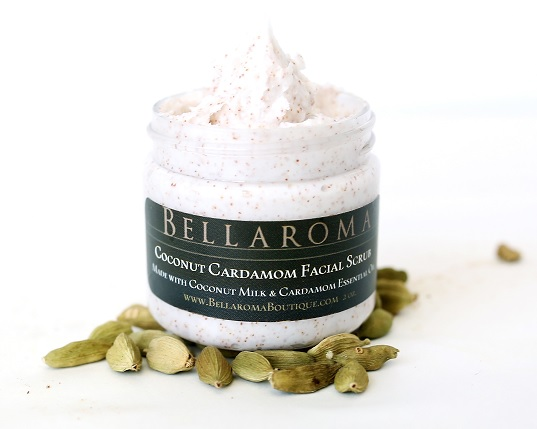 Coconut Cardamom Facial Scrub-Coconut Cardamom Facial Scrub,gentle,emmy awards gift bags,celebrity,coconut milk