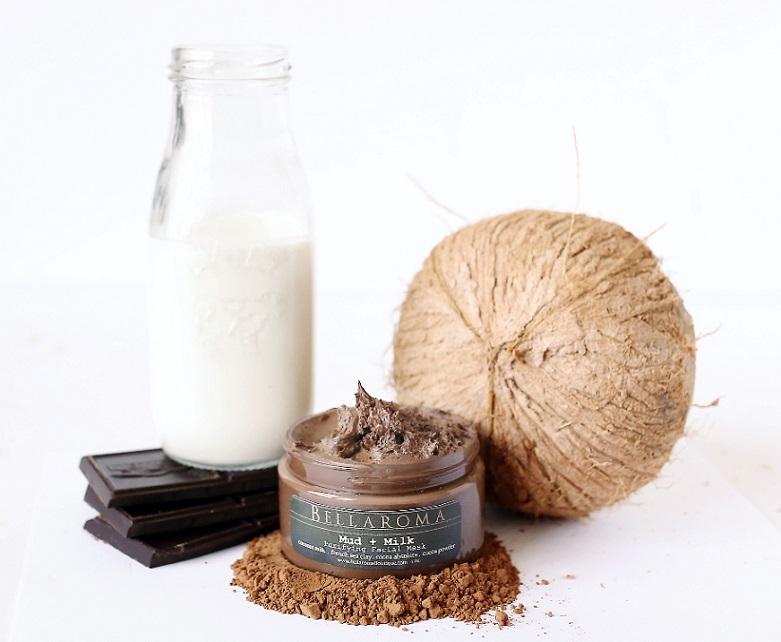Mud + Milk Purifying Facial Mask-Mud,Milk,Facial Mask,Cocoa Absolute,Chocolate,coconut milk,Mineral Sea Clay,Martha Stewart,vegan,coconut milk,hydrating,detox,moisturizing,vegan,deep cleansing,dead sea