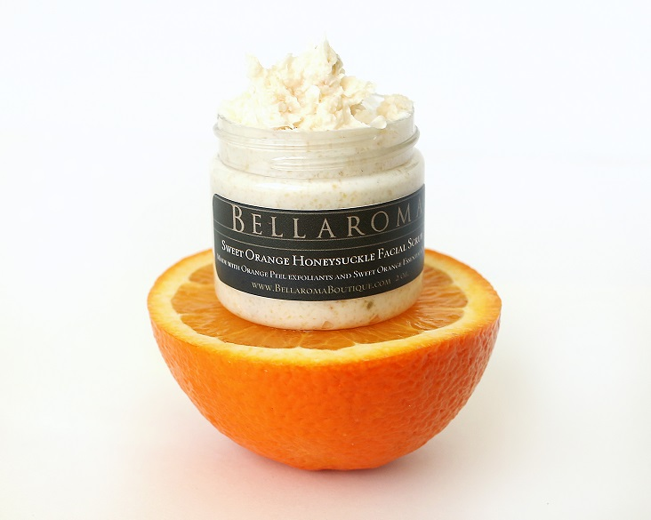 Sweet Orange Honeysuckle Facial Scrub-Sweet Honeysuckle Orange,brightening,happy,citrus,facial scrub,glow