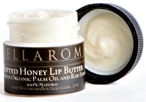 Potted Honey Lip Butter-raw,honey,lip,balm,pot,cold sores,blisters,chap,stick,gloss,salve,cuticle,edible,natural,organic,palm,vegetable,vegan