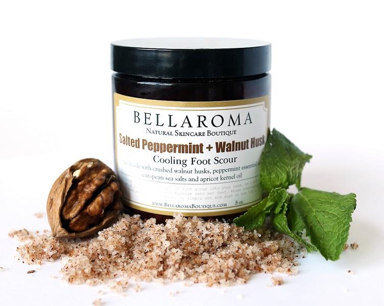 Salted Peppermint + Walnut Husk Foot Scour-Salted Peppermint and Walnut Husk Foot Scour,foot scrub,feet