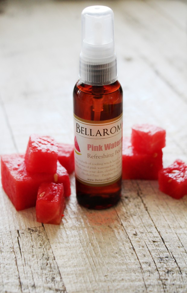 Pink Watermelon Refreshing Body Spritzer-pink watermelon,spray,spritzer,hair,room,sheets,pillow,body