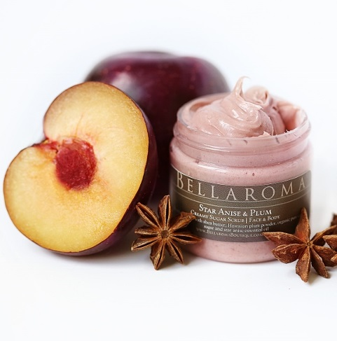 Star Anise + Plum Creamy Sugar Scrub-star anise plum,creamy sugar scrub,face,body,holiday,gift,stocking stuffer,licorice,christmas,limited edition