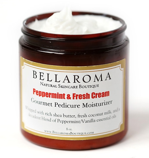 Peppermint + Fresh Cream Gourmet Moisturizer-Peppermint Cream,madagascar vanilla,pedicure treatment,feet,foot lotion,moisturizer,vegan,coconut milk