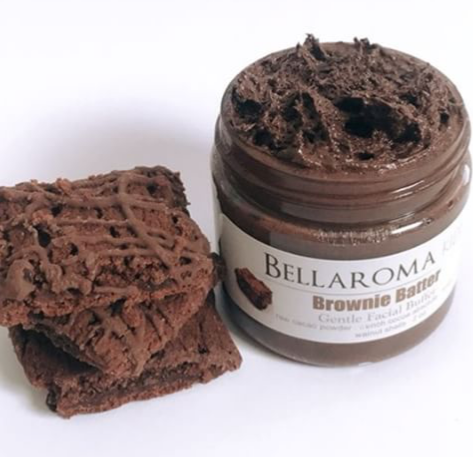 Brownie Batter Gentle Facial Buffer-brownie,cocoa,cacao,chocolate,kids,facial,scrub,face,tween,teen,children