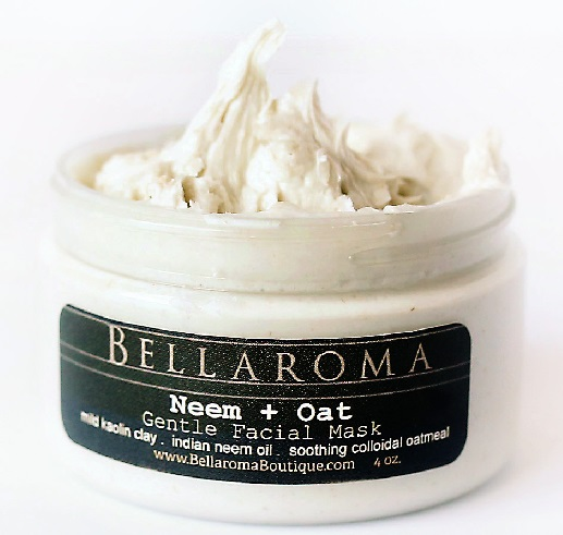 Neem + Oat Gentle Facial Mask-Neem,Colloidal Oatmeal,rosacea,gentle,psoriasis,eczema,acne,troubled skin,kaolin clay,facial mask,clove,tea tree,problematic skin,woes,sensitive skin