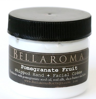 Pomegranate Fruit Whipped Creme-Pomegranate Facial Cream,Pomegranate seed oil,anti aging,antioxidant,vegan,hands,face,facial