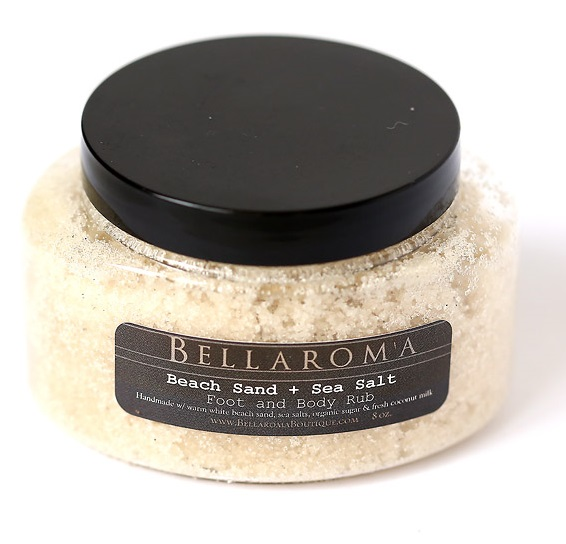 Beach Sand + Sea Salt Foot and Body Rub-beach,body,scrub,sea salt,sugar scrub,sand,tropical,feet,foot,coconut milk,scour