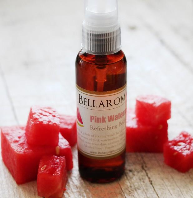 Pink Watermelon Refreshing Body Spritzer-pink watermelon,spray,spritzer,hair,room,sheets,pillow,body