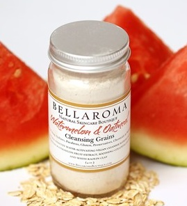 Watermelon + Oatmeal Cleansing Grains (Soothing)-watermelon,oatmeal,cleansing grains,facial cleanser,masks,scrub,soothing